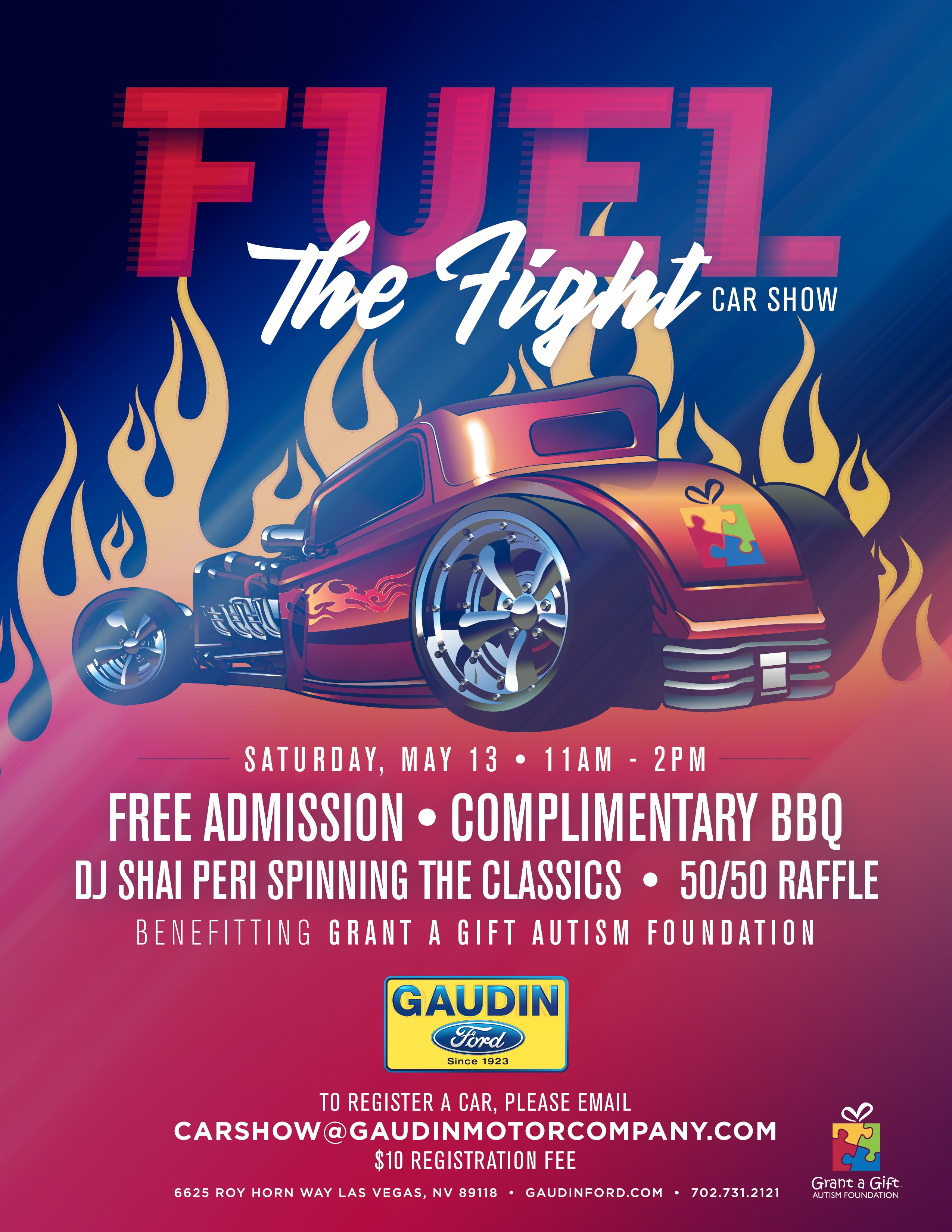 Fuel the fight car show gaudin motor company for Ford motor company charitable giving